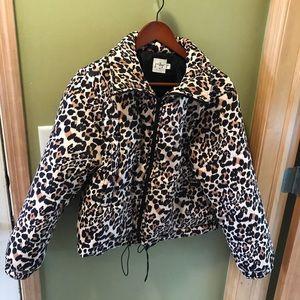 Princess Polly leopard puffer jacket